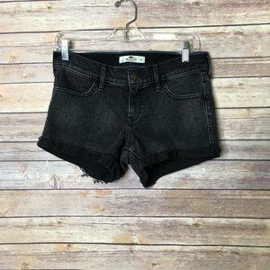 EUC Hollister Black White wash denim shorts Sz. 28
